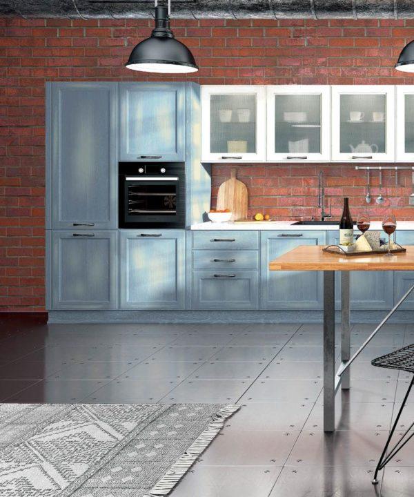 "Кухня Милан джинс | Мебельная фабрика ""Гепард"""